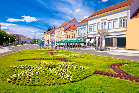 town of koprivnica old street and