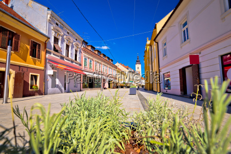 town of cakovec main street view