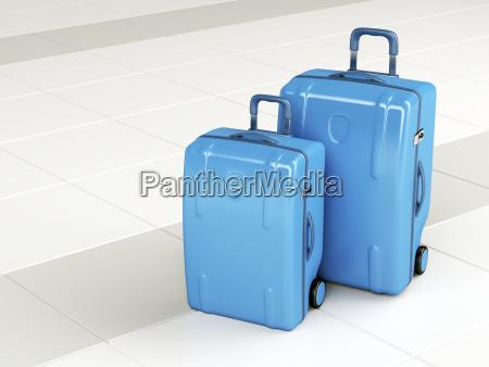 blaue, reisetaschen - 22710875
