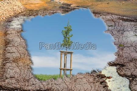 konzept klimawandel und klimakatastrophe