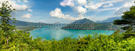 view of the annecy lake in