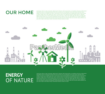 digital vector green city ecology icons