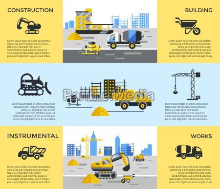 digital vector yellow construction building tracks