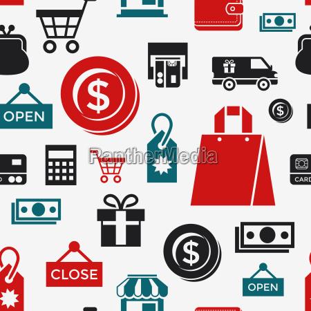 digital vector white black shopping sale