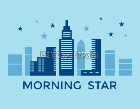 digital vector blue city building icons
