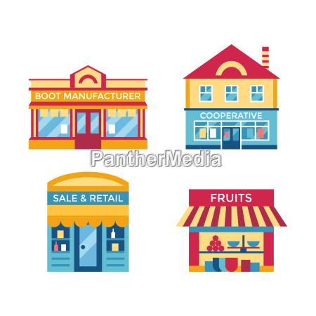 digital vector yellow supermarket icons with