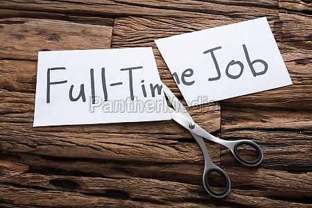 scissors by words full time job