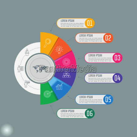 creative concept for infographic with 6