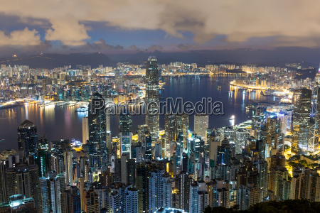 city night in hongkong