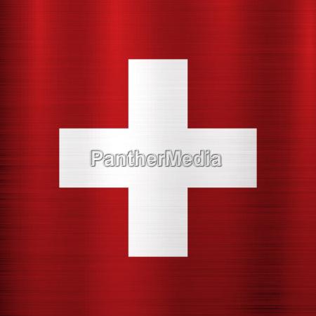 flagge schweiz metall textur