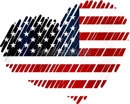 vereinigte staaten flagge herz metall textur