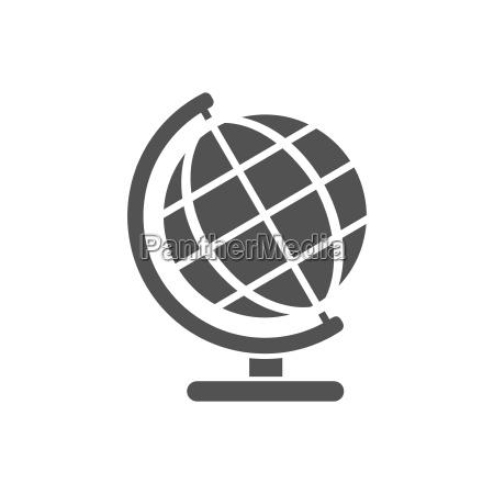 globe icon fuer bildung