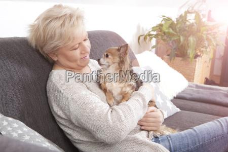 dog on his lap