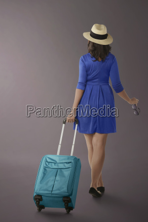 portrait of asian woman traveling with