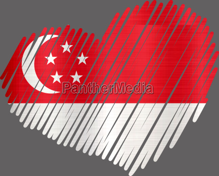 lined heart singapore metallic texture