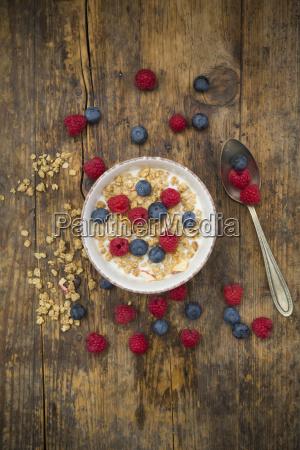 schuessel von granola