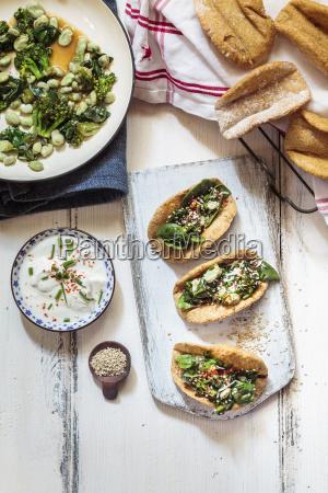 vegetarian homemade tacos with sauteed greens
