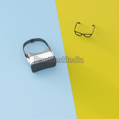 vr glasses next to common glasses
