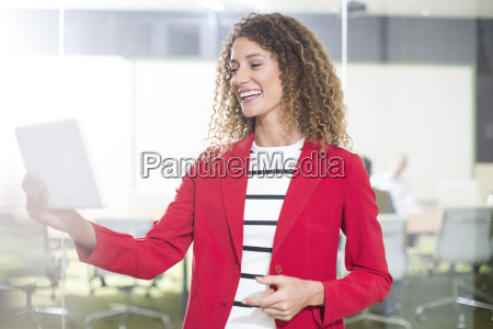 happy business woman mit