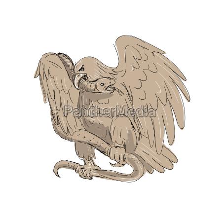 schlange in kupplungen von eagle drawing
