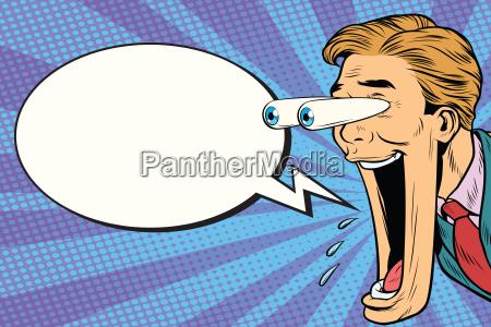 hyper expressive reaction cartoon man face