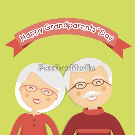 happy grandparents day with white hair
