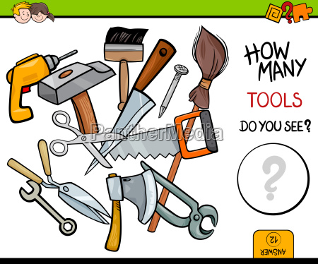 counting tools educational activity game