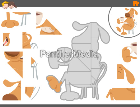 jigsaw puzzle game with funny dog