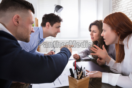 business coworker arguing to each other