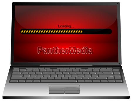 laptop computer mit ladeleiste 3d