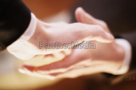 business handschlag closeup