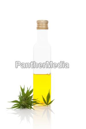 hanfoel in flasche