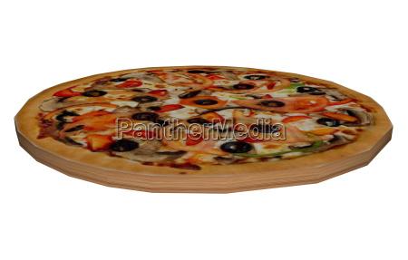 belegte pizza freigestellt