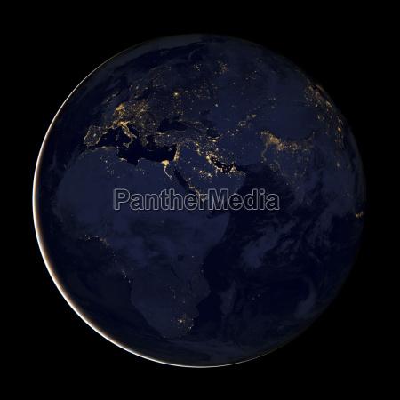 space nacht nachtzeit afrika europa weltraum