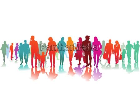 farbenfreudige strassenszene illustration