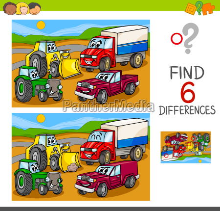 spot the differences with cars and