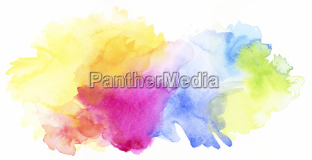 watercolor rainbow abstract isolated bright