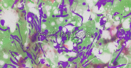 colored banner with real splashes of