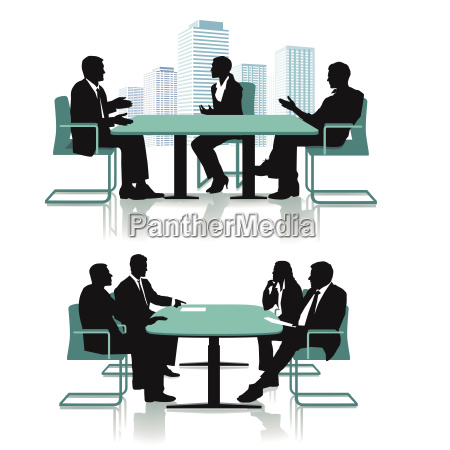 business conference discussion illustration