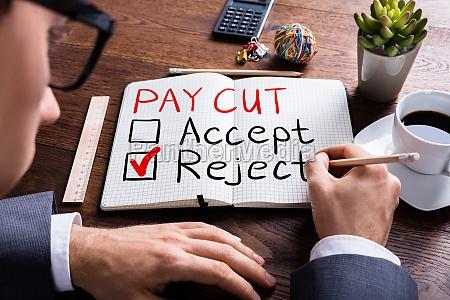 paycut rejection concept