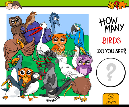 counting birds educational game for kids