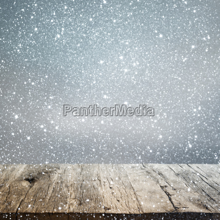 abstract winter background with an old