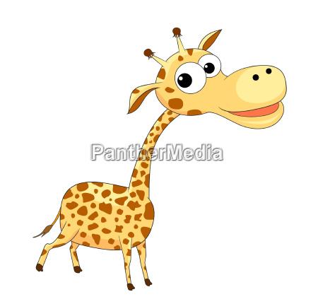 niedliche lustige giraffe