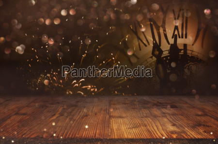 abstract bokeh background and a clock