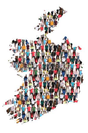 ireland map people people people group