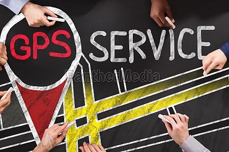 gps service concept
