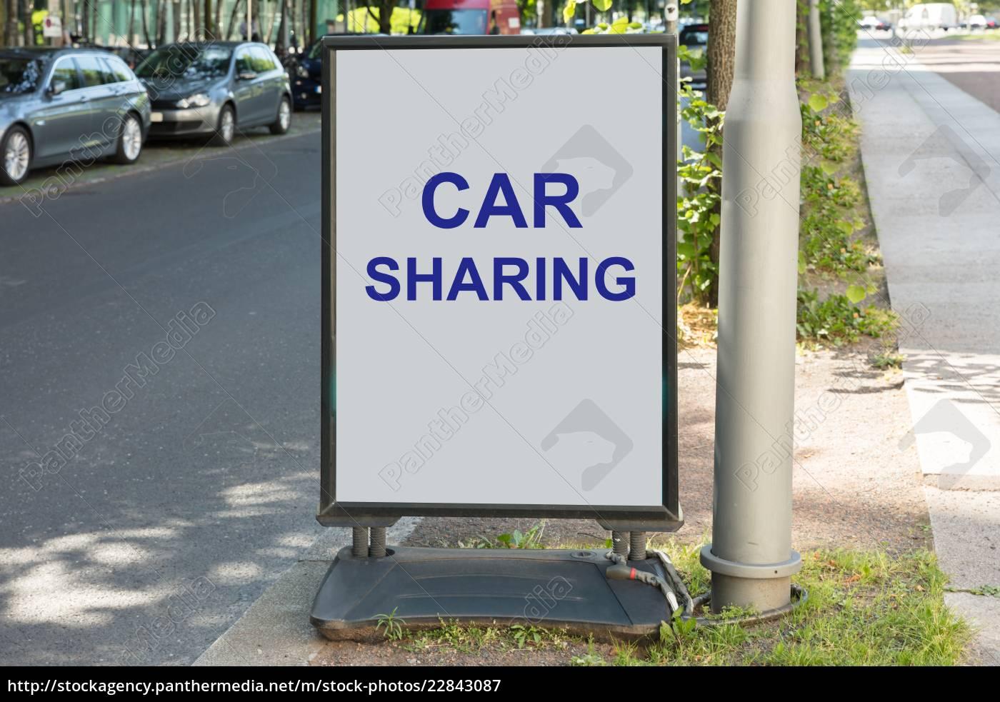 car-sharing-zeichen, an, bord, für, straße - 22843087