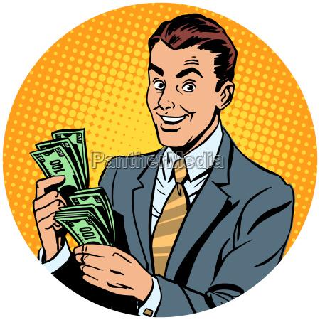 geschaeftsmann zaehlt geld pop art avatar