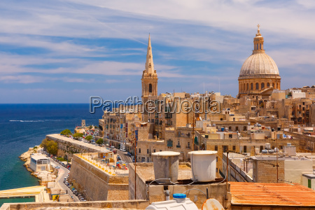 domes and roofs of valletta