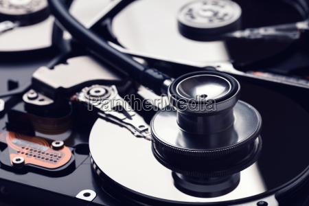festplattendiagnostik und das konzept der digitalen